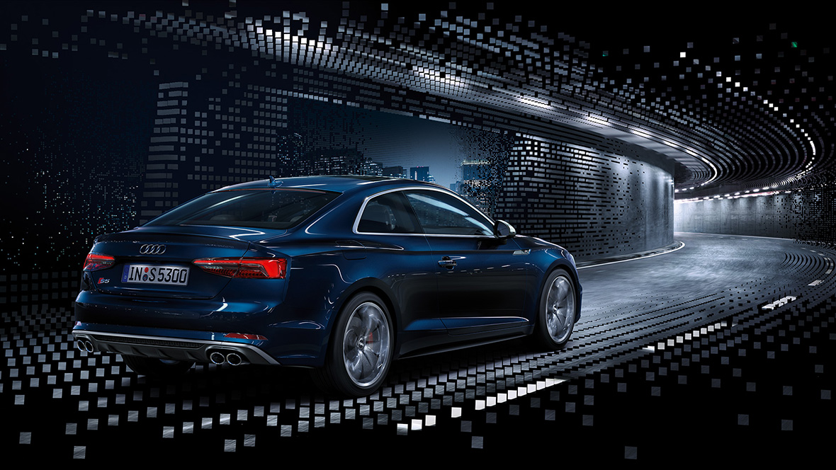 De Audi A5 Coupé is te personaliseren aan de hand van advanced- en S line-pakketten